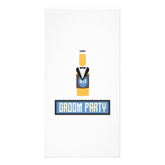 Groom Party Beer Bottle Z77yx Custom Photo Card