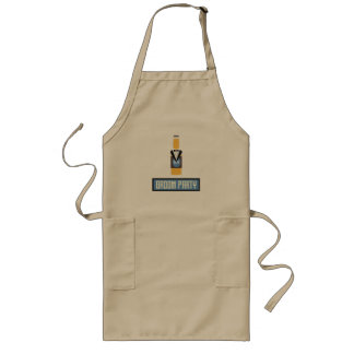 Groom Party Beer Bottle Z77yx Long Apron