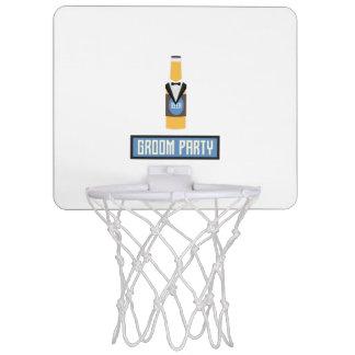 Groom Party Beer Bottle Z77yx Mini Basketball Hoop