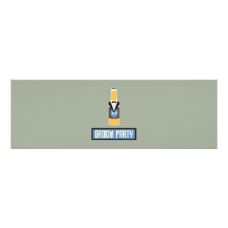 Groom Party Beer Bottle Z77yx Photographic Print