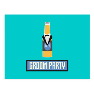 Groom Party Beer Bottle Z77yx Postcard