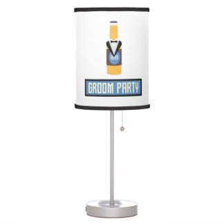 Groom Party Beer Bottle Z77yx Table Lamp