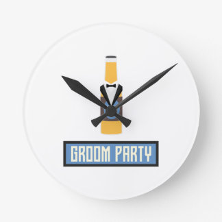 Groom Party Beer Bottle Z77yx Wall Clock