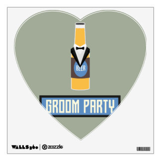 Groom Party Beer Bottle Z77yx Wall Sticker