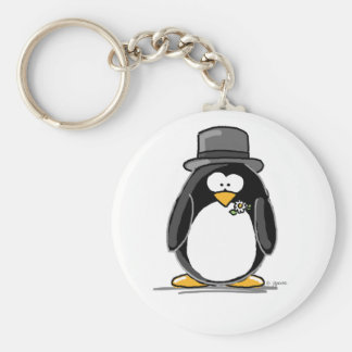 Groom Penguin Keychain
