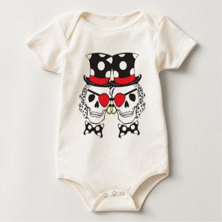 Groom Pirate Skull Black Baby Bodysuit