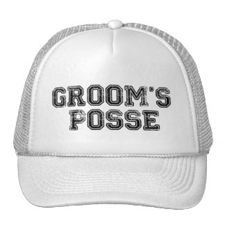 Groom s Posse Ball Cap Mesh Hat