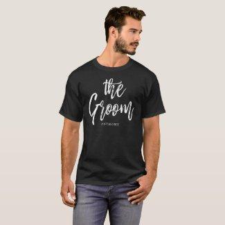 Groom | Script Style Custom Name Wedding T-Shirt