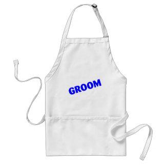 Groom Slanted Blue Standard Apron