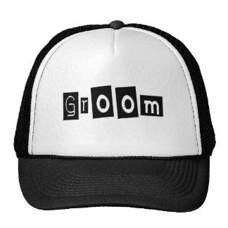 Groom (Sq Bllk) Trucker Hats