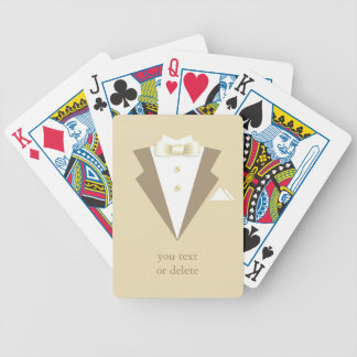 Groom Suit Tuxedo Playing Cards