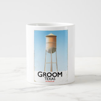 Groom Texas Route 66 Americana travel print Large Coffee Mug