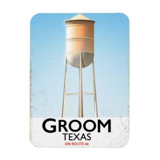 Groom Texas Route 66 Americana travel print Rectangular Photo Magnet