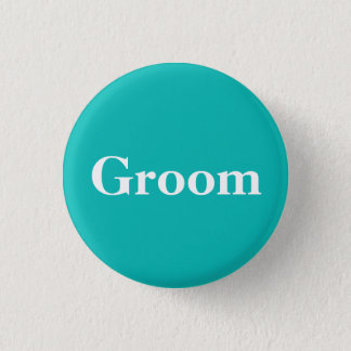 Groom | Tiffany Theme 1 Inch Round Button