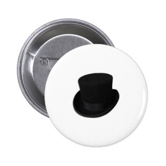 Groom Top Hat 2 Inch Round Button