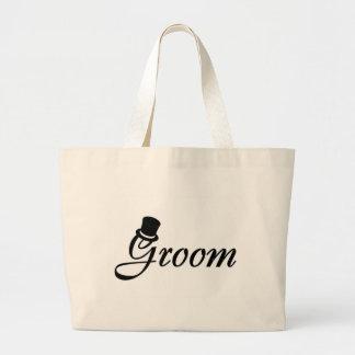 Groom (Top Hat) Jumbo Tote Bag