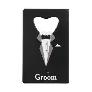 Groom Tuxedo Bottle Opener Credit Card Bottle Opener