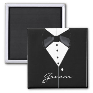 Groom Tuxedo Refrigerator Magnets