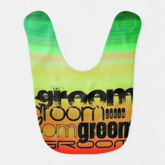 Groom; Vibrant Green, Orange, & Yellow Bib