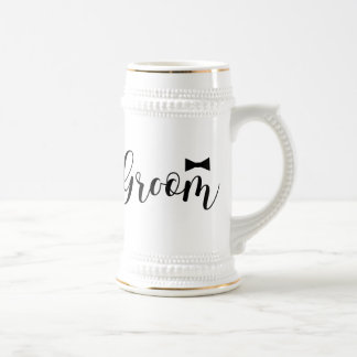 Groom-Wedding,-Bachelor-party-tie Beer Stein