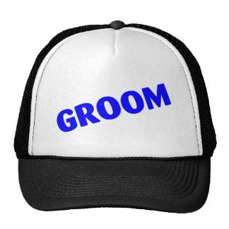 Groom Wedding Blue Mesh Hat
