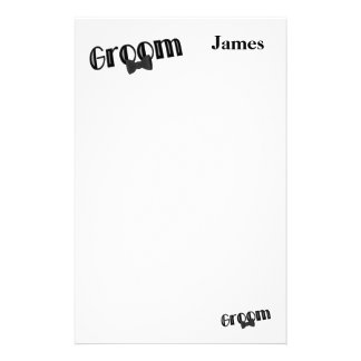 Groom Wedding Stationery Note Paper