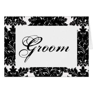 """Groom"" Wedding Table Card"