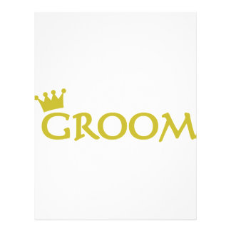 groom with crown icon personalized letterhead