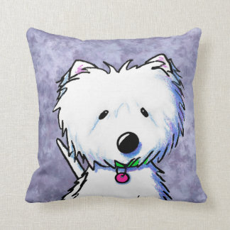 Groomed Gorgeous Westie Pillow