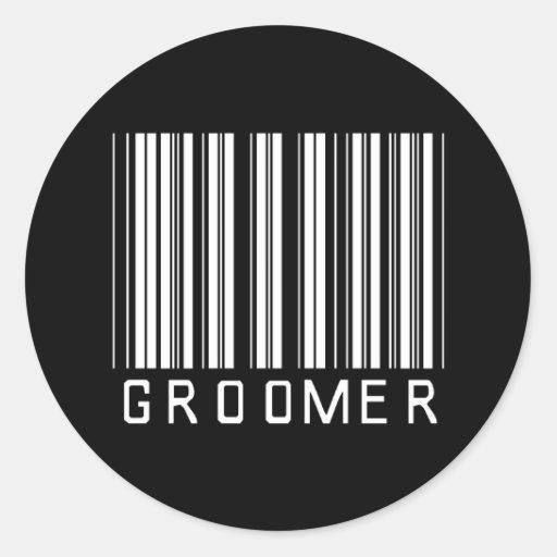 Groomer Bar Code Round Sticker