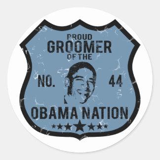Groomer Obama Nation Round Sticker