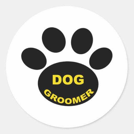 Groomer Paw Round Sticker