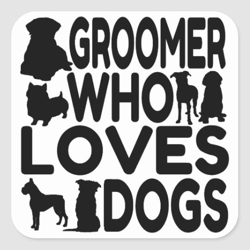 Groomer Who Loves Dogs Stickers