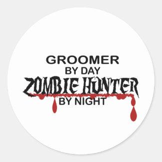 Groomer Zombie Hunter Round Sticker