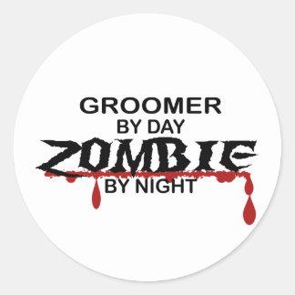 Groomer Zombie Round Sticker