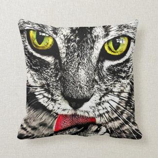 Grooming Cat Face Pillow