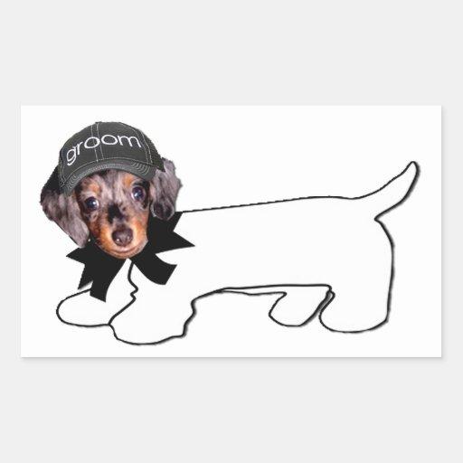 Groom's Autograph Hound Rectangular Stickers