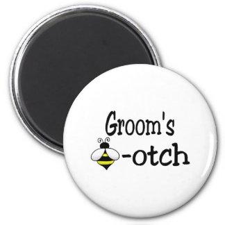 Groom's Bee-otch 2 Inch Round Magnet