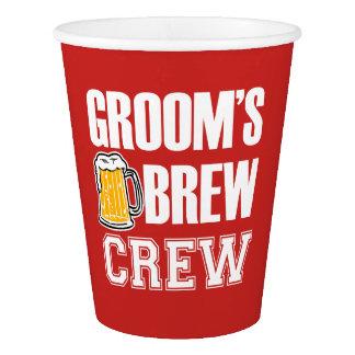 Groom's Brew Crew Groomsmen paper cups