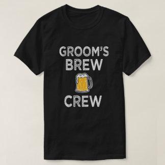 Groom's Brew Crew Men's Groomsman Party Shirt