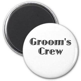 Groom's Crew 2 Inch Round Magnet