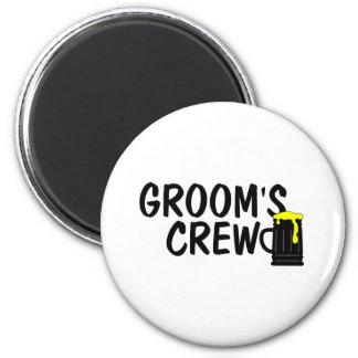 Grooms Crew Beer 2 Inch Round Magnet
