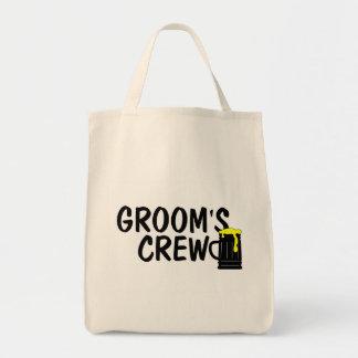 Grooms Crew (Beer) Canvas Bag