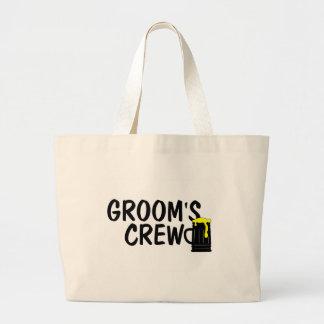 Grooms Crew Beer Jumbo Tote Bag