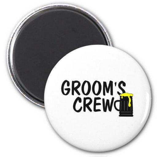 Grooms Crew Beer Magnet