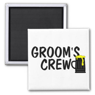 Grooms Crew Beer Square Magnet