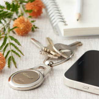 Grooms Customizable Keepsake Oval Keychain