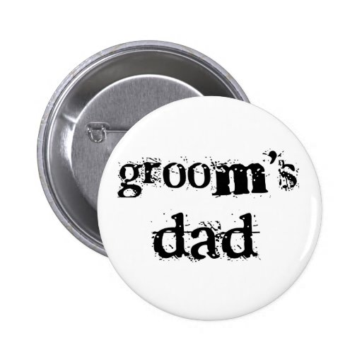 Groom's Dad Black Text Button