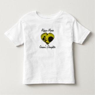 """Groom's Daughter"" - Yellow Sunflower Heart T-shirt"