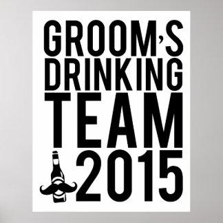 Groom's drinking team 2015 poster